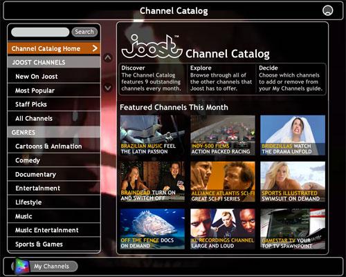 Joost TV gratis