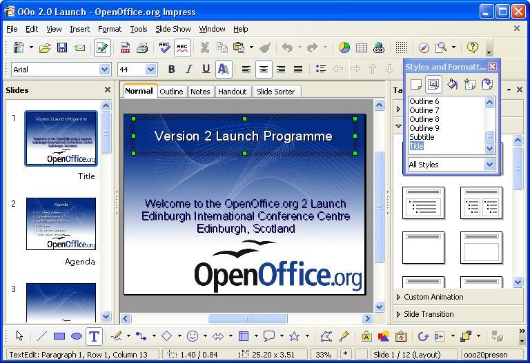 Open Office screenshot
