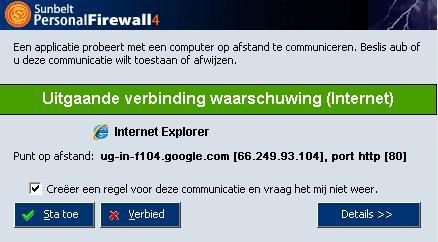 Sunbelt Personal Firewall screenshot