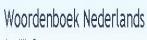 Woordenboek Nederlands