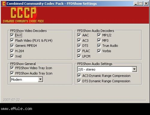 Combined Community Codec Pack (CCCP) gratis