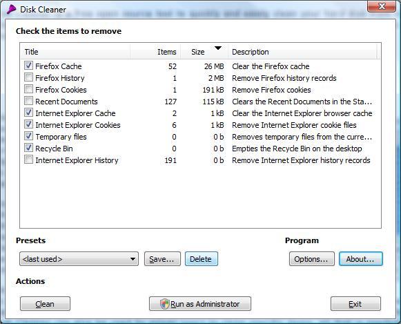Disk Cleaner gratis