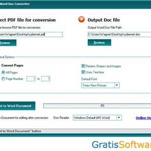 Free PDF to Word Doc Converter gratis