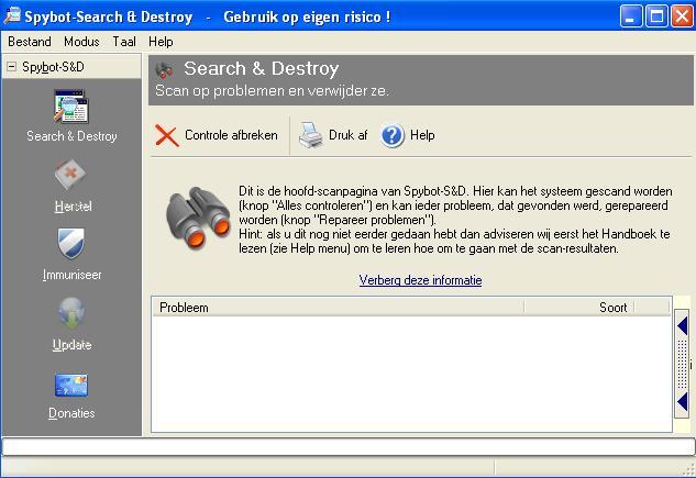 Spybot Search & Destroy downloaden