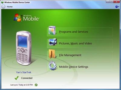 Windows Mobile Device Center gratis