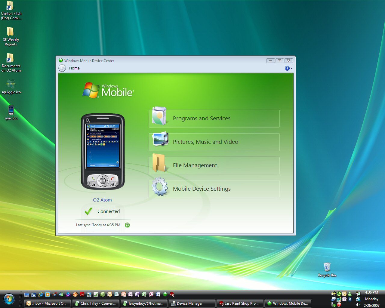 Windows Mobile Device Center gratis downloaden