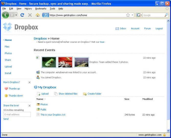 DropBox downloaden