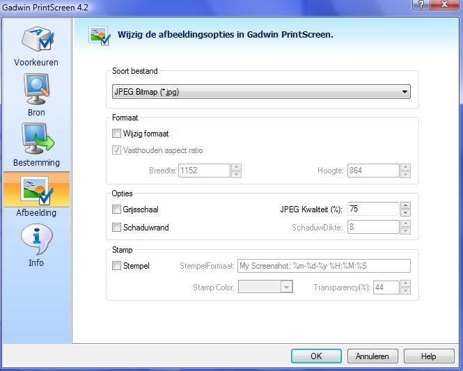 Gadwin Printscreen screenshot