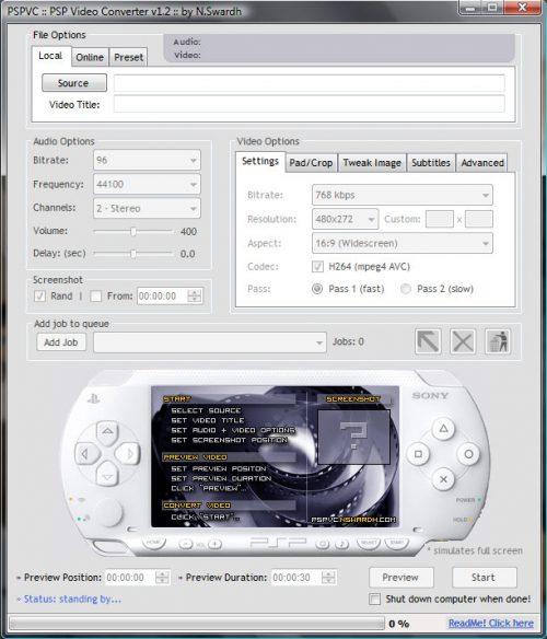 PSP Video Converter gratis